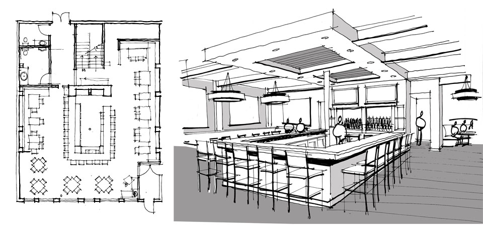Oneten restaurant bar lounge for Design my lounge layout